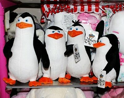 4PCS The Penguins of Madagascar Plush Stuffed Toys 20-24cm