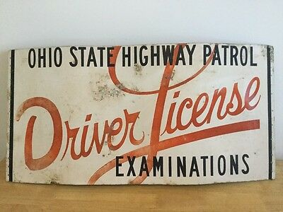 Ohio State Highway Patrol Collectible Driver License Examination Sign