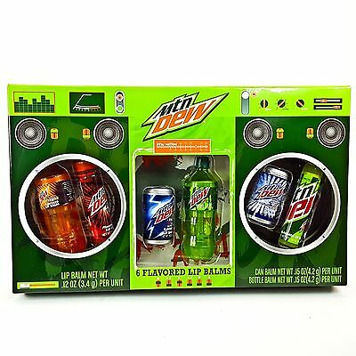Mountain Dew Mtn Dew Nation 6pk Lip Balm White Out Code Red Can Bottle Boom Box