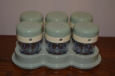 Baby Bullet Food Storage Containers set of 6 by Magic Bullet Blender