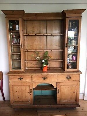 VICTORIAN DRESSER - Absolutely stunning example with original glass