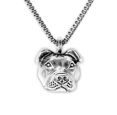 Sterling Silver Pit Bull 3D Necklace