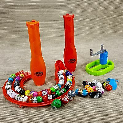 Mighty Beanz LOT Storage Case Slide Holders & 28 Beans w Track Parts Moose 2010