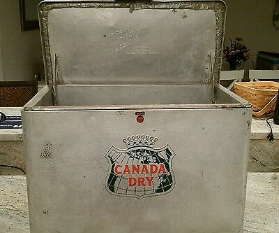 1950's CANADA DRY CHONSTROMS COOLER RARE AND HARD TO FIND