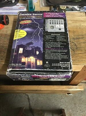 *new* Connecticut Electric Emergen Manual Transfer Switch Pre-Wired # 6-5000 Nib