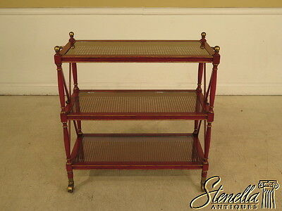28273E:  Regency Style 3 Tier Red Trolley Serving Cart