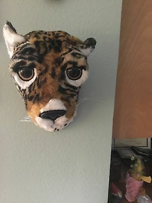 Cheetah Faux Taxidermy Head Bust For Wall Handcrafted Artist Merikay Mackenna
