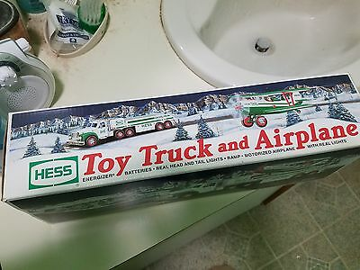 Hess Toy Truck -  Toy Truck and Airplane - 2002 - NIB