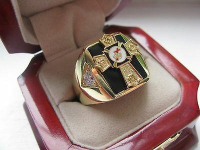 NEW Mens Knights TEMPLAR Past Commander Crest Ring *