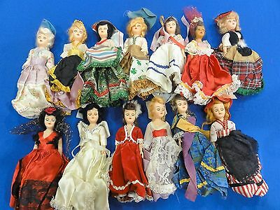"Vintage 1960's Arco Gas Station Dolls Of The World-Set Of 13-7.5"" No Duplicates"