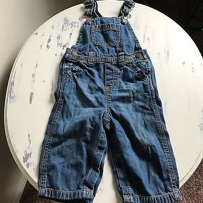 Old Navy Baby Denim Overalls Size 12-18 Months