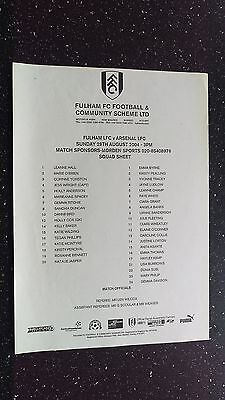Fulham V Arsenal 2004-05