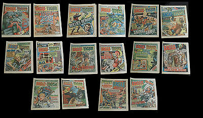 16 x EAGLE  & TIGER COMICS  1985-86-88