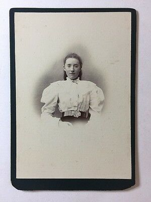 Large Victorian Cabinet Card Photograph (CDV) Young Lady: