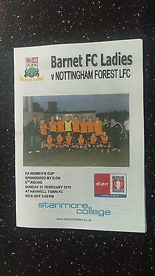 Barnet Ladies V Nottingham Forest Ladies 2009-10