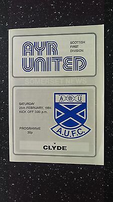 Ayr United V Clyde 1983-84