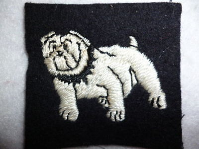 Eastern Command Embroidered Bulldog Patch, British Army Formation Sign