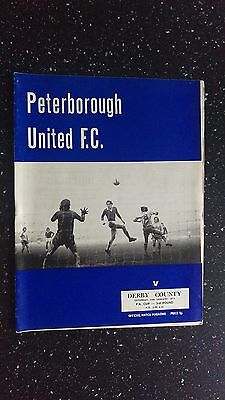 Peterborough United V Derby County 1972-73