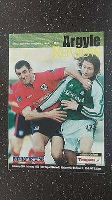 Plymouth Argyle V Hartlepool United 1999-00.