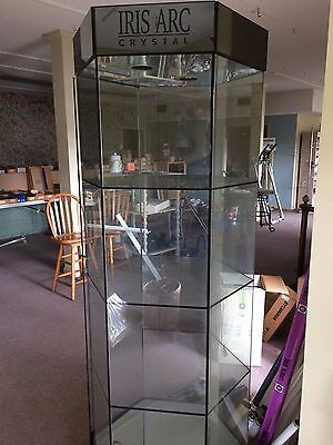 Display Cases LOT Glass Iris Arc Collectibles Retail Glass Home Business Keys