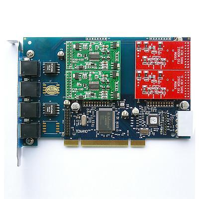 elastix card TDM410P with 2 FXS and 2 FXO card  asterisk,trixbox ,call center