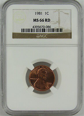 1981 Lincoln Cent Ngc Ms66Rd