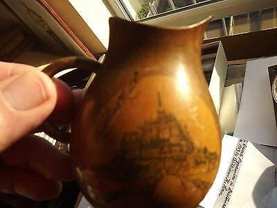 Antique Wooden Jug Mauchline Type But Mont Saint Michelle France
