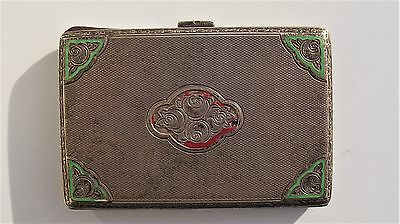 Antique Sterling Silver Cigarette / Card Case 1909 weighs 77g