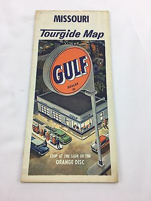Vintage Gulf Oil Missouri Tourgide Map