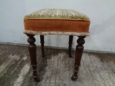 antique victorian padded seat stool