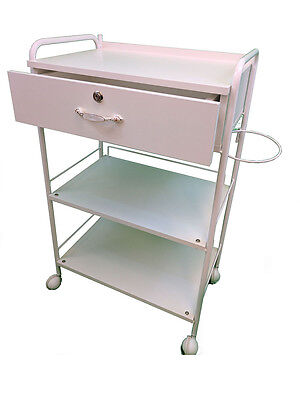 3 Shelve white Trolley with drawer
