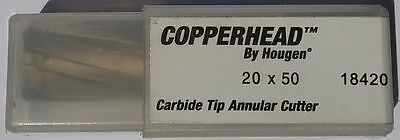 New Hougen Copperhead Carbide Tip Annular Cutter 20 mm x 50 mm Ref 18420 Metric