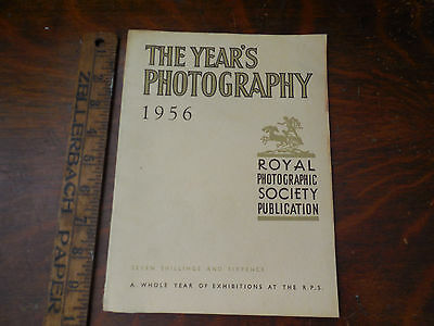 Vtg The Year's Photography 1956 Royal Photographic Society Magazine Photo Book