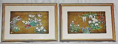 Pair of Vintage Ukiyo-E Japanese Wood-Block Prints **Framed & Authenticated**