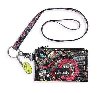 NWT Sakroots Detachable Lanyard ID Card Case Wallet Neon Spirit Desert SHIP INTL