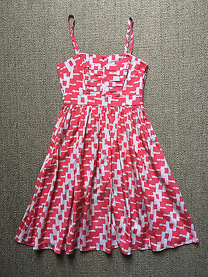 French Connection Summer dress coral / cream women's size UK 10 / Euro 38