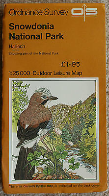 Ordnance Survey Outdoor Leisure Map Snowdonia National Park - Harlech 1:25000 OS