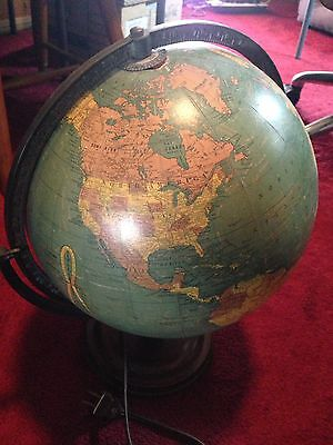 Cram's Unrivaled Terrestrial Electric Globe  Lights up!