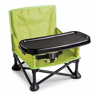Summer Infant Pop N' Sit Portable Booster Plastic - Green with Carrying Bag