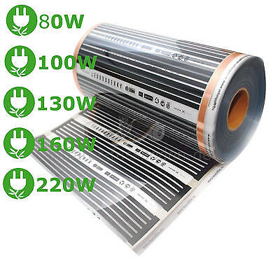 Electric Infrared Heating foil Floor heating 80/100/130/160/220W 100cm wide