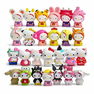 26pcs Hello Kitty Different Figures Toy Collection Cake Topper Xmas Gift 4-5CM