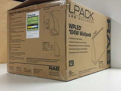 RAB WPLED104 LED Wallpack 104W 5100K 100-277V 400W NEW Fixture