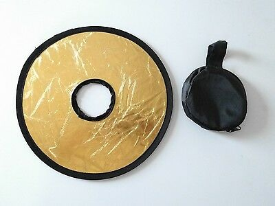 2 in 1 Foldable Golden/Silver Micro Ring Round Portrait Shooting Light Reflector
