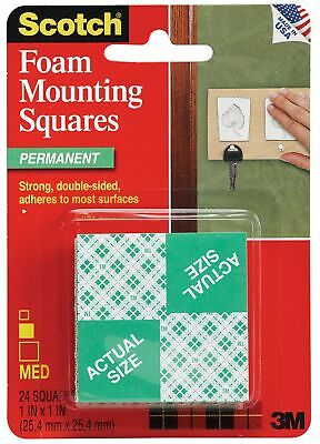 3M 111-24 1 X 1 Scotch® Mounting Squares 24 Count