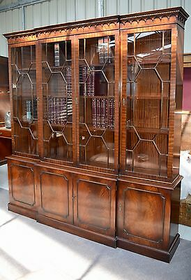 Georgian style breakfront bookcase library bookcase Bevan Funell cabinet
