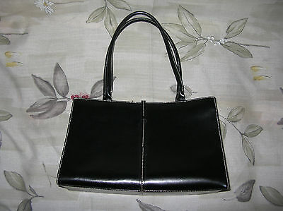 Mint Wilson Leather Maxima Black Shoulder Satchel Tote Purse Bag