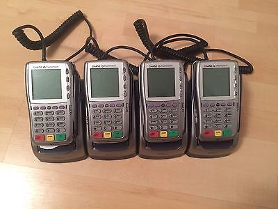 Lot of 4 VeriFone Vx810 PoS Machines W/ Base & Charger