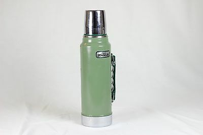 Aladdin Stanley Quart Thermos A-944DH Made in USA Vintage Green Silver Chrome