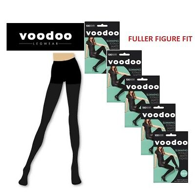 WOMENS 5 PACK VOODOO TOTALLY MATTE SLIMMING TIGHTS - VOLUPTUOUS Plus Size Tights