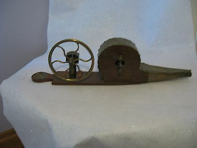A. Richardson Rotorary Peat Bellows Brass & Wood 1800's